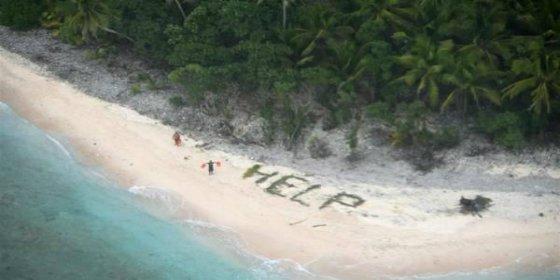 El SOS que permitió el rescate de tres náufragos en una remota isla