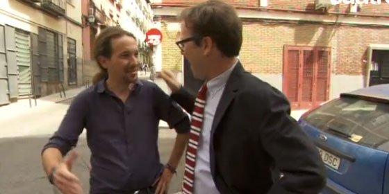Pablo Iglesias asesora a Joaquín Reyes antes de su encuentro 'Feis to feis'
