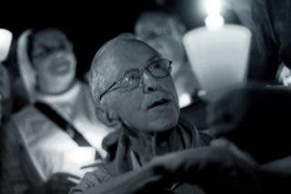 Pedro Casaldáliga, junto con la Iglesia de São Félix do Araguaia, defiende la democracia en Brasil