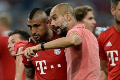 Pep Guardiola vuelve a ejercer de escudo de Arturo Vidal ante las críticas