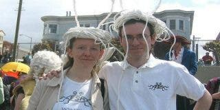 Primer matrimonio legal de la iglesia del Monstruo del Espagueti Volador
