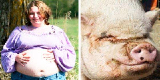 El increíble vídeo de la mujer que ha dejado embarazada un cerdo violador