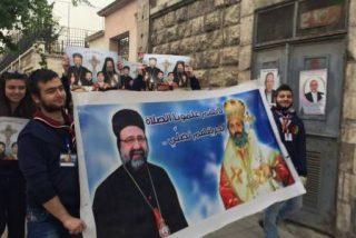 Marcha por la paz en las calles de Alepo para recordar a los dos obispos secuestrados