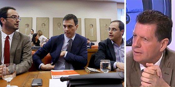 """Alfonso Rojo: """"La imagen de Pedro Sánchez es patética; ¡señores del PSOE, no llueve, les están meando encima!"""""""