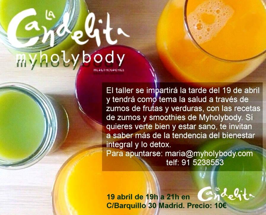 """La Candelita inaugura dentro de su Afterwork los """"TALLERES LA CANDELITA"""" sobre salud y gastronomía"""