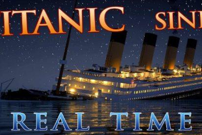 [VÍDEO] Así fue el hundimiento del Titanic en tiempo real