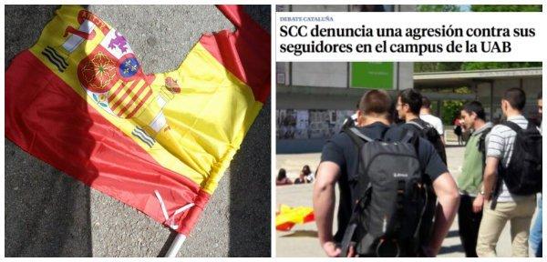 Nuevo ridículo de La Vanguardia para ocultar las salvajes agresiones nacionalistas en la UAB
