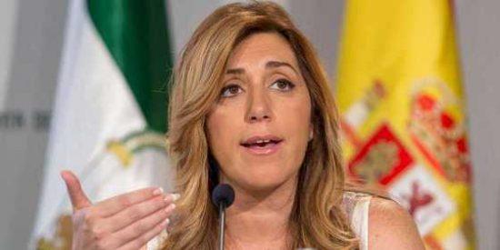 """Susana Díaz presume de """"buena relación"""" con Rajoy y el PSOE habla del sorpasso"""