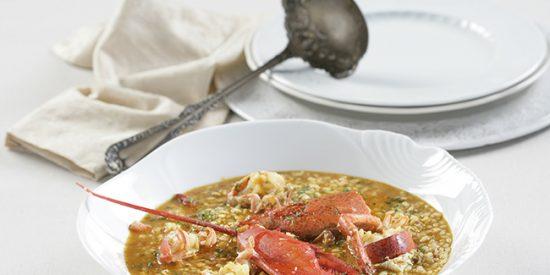 Receta: arroz caldoso con bogavante