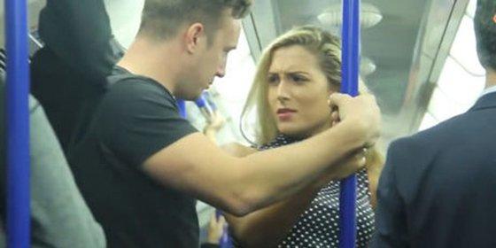 Ver y no creer: así reacciona este hombre frente al acoso a una mujer en el metro