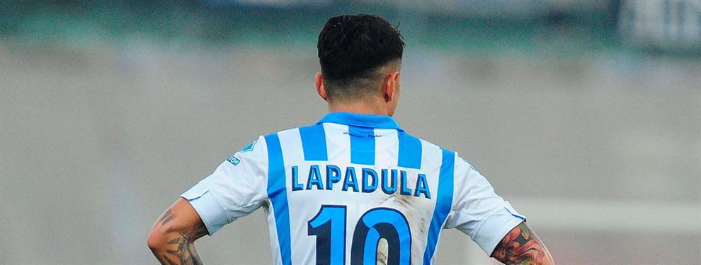 Afirman desde España que Lapadula podría pasar al Napoli