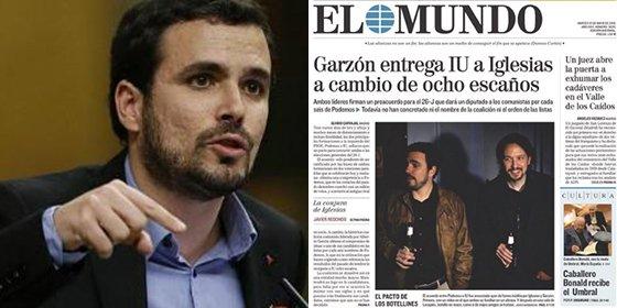 El desafortunado tuit de Garzón recreándose en la delicada situación de El Mundo