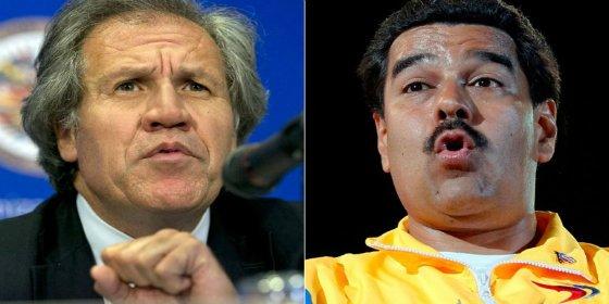 Las duras acusaciones entre Luis Almagro, secretario general de la OEA, y Nicolás Maduro