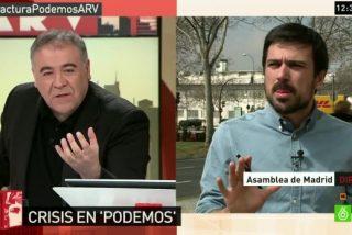 Ramón Espinar (PODEMOS) critica a Ana Pastor (LaSexta) y García Ferreras la defiende en 'Al Rojo Vivo'