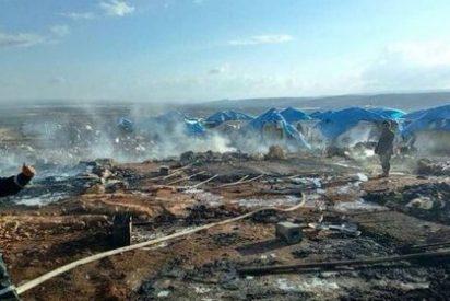 Matanza en un campo de refugiados sirios por un bombardeo
