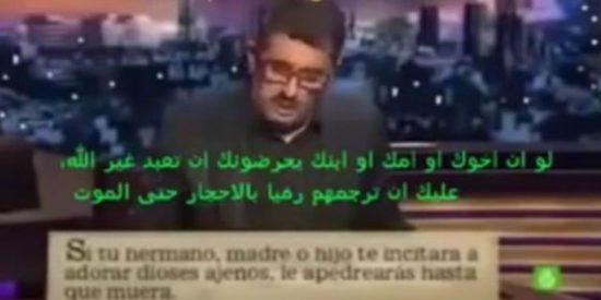 El vídeo de Buenafuente que utilizan los islamistas para maldecir al cristianismo