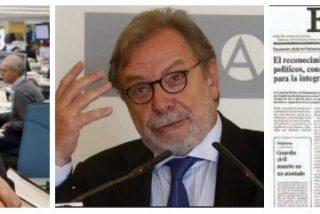 """Cebrián pontifica sobre la libertad de expresión en el 40 aniversario de El País: """"Nos espera un futuro brillante"""""""