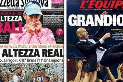 """Un """"grandioso"""" Zidane es portada de L'Équipe y la Gazzetta se rinde a """"su alteza real"""""""