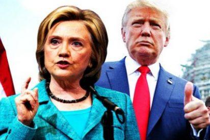Cómo sería un duelo entre Trump y Clinton por la presidencia