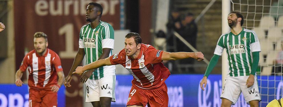 El jugador uruguayo (a tiro) por el que se pelearán el Betis y el Sevilla