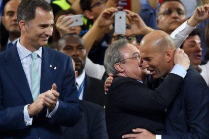 Florentino Pérez confirma a Zinedine Zidane como entrenador del Real Madrid hasta 2018