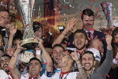El vestuario del Barça celebró el triunfo del Sevilla ante el Liverpool