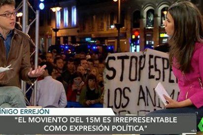 Los manifestantes del 15M boicotean el directo de Ana Pastor y a los 'mercaderes' de LaSextaTv en la Puerta del Sol