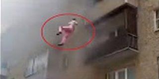 [VÍDEO] La familia que se lanza por la ventana de su casa en llamas