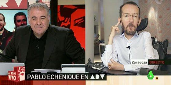 Las mentiras de Echenique sobre las tensiones en Podemos hacen estallar a Ferreras