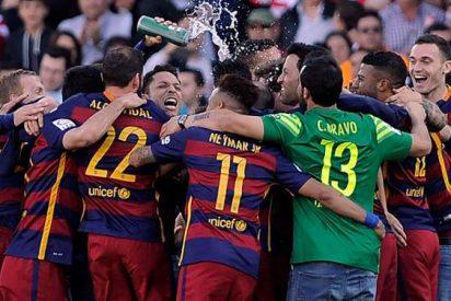 Gerard Piqué volvió a ser el protagonista en la celebración de la Liga