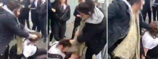 El vídeo de la brutal paliza a una estudiante... ¡que provoca burlas!