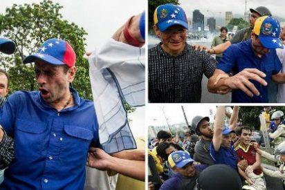 El ataque de la Policía Bolivariana a Henrique Capriles con gas lacrimógeno