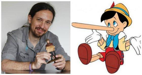 ¿Pablo Iglesias o Pinocho?: Al mendaz líder de Podemos le crece la pituitaria en una entrevista en La Razón