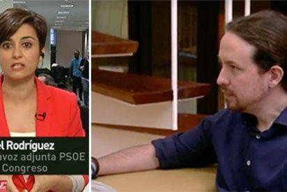 """Chaparrón de una socialista al cacareador Iglesias: """"Se piensa que la Historia surgió cuando nació él"""""""