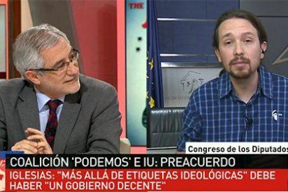 """Un Llamazares cabreado como un mono revuelca a Pablo Iglesias: """"Agradezco los elogios pero me basta con respeto y educación"""""""