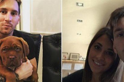 Messi prefirió jugar con su perro antes que ver el partido del Real Madrid