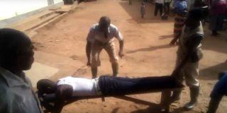 Así le ponen el culo morado a un nigeriano por acostarse con una casada