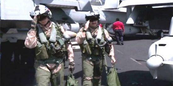 La guerra secreta contra DAESH que libran desde un portaviones de EEUU