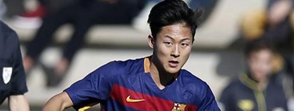 Preocupación en el Barça por su esperanza coreana Seung Woo Lee