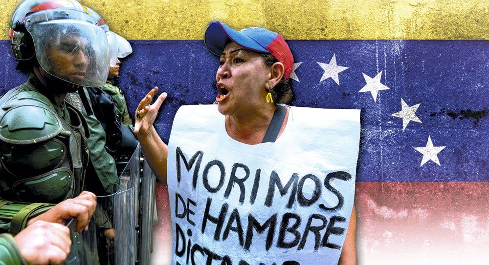 Venezuela, donde escasea tanto la comida como la libertad