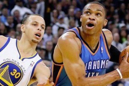 Westbrook de Oklahoma City Thunder coloca a los Golden State Warriors de Curry al borde del abismo