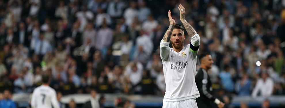 Sergio Ramos calienta la final de la Champions atizando al Atlético