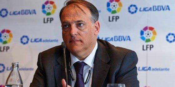 """Javier Tebas: """"Las esteladas son símbolos que defienden la destrucción de España"""""""