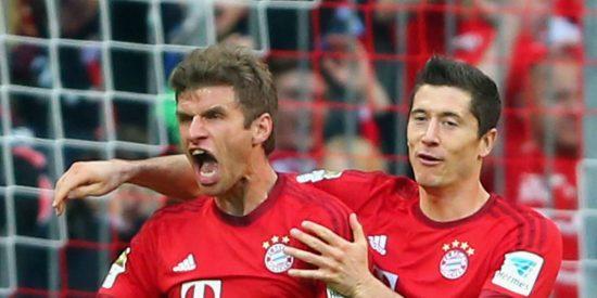 Thomas Muller y Lewandowski: dos jugadores del Bayern que tienen muchas ganas de que se vaya Pep Guardiola