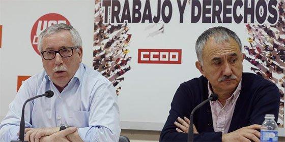 Los 'sindivagos' de UGT y CCOO se levantan tres millones de euros con 82.000 delegados 'fantasmas'