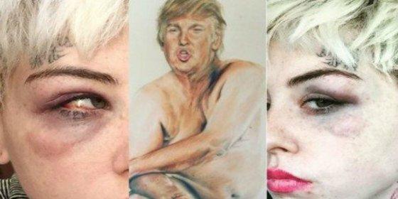 Le parten la cara por este cuadro de Donald Trump con el pene pequeño