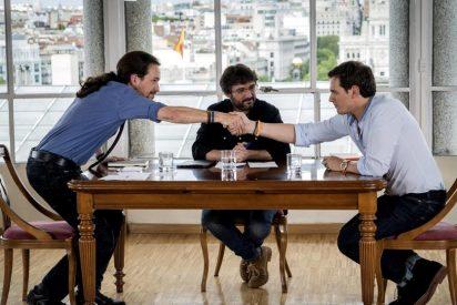 Albert Rivera corre a gorrazos a Pablo Iglesias en el 'partido de vuelta' entre Ciudadanos y Podemos