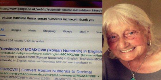 La anciana hace sonreír a Google con su exquisita educación británica
