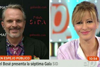 Miguel Bosé se pone chulo con Susanna Griso y se niega a hablar de Podemos