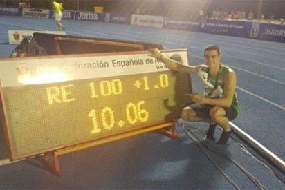 Bruno Hortelano, nuestro 'Usain Bolt', bate el récord nacional de los 100 metros lisos